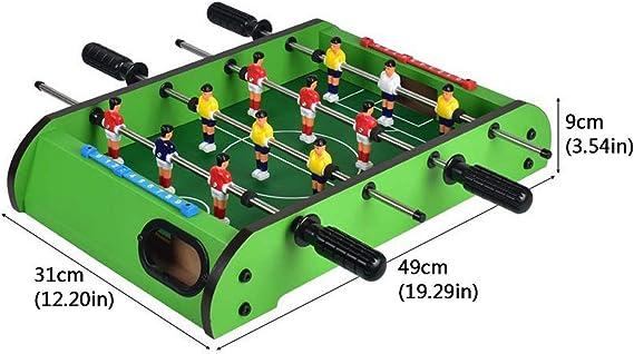 YUHT Futbolín Infantil,Mesa De Futbolín, Mesa De Billar Mini Juego, Madera para Niños Futbolín Máquina De Cuatro Polos Boy Grande, Mesa Doble Tabla De Juguete Juego De Fútbol: Amazon.es: Deportes y aire