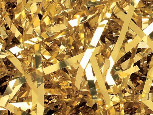 Gold Metallic Cello Shred 10 lb Box - WRAPS-MX10GO by Miller Supply Inc