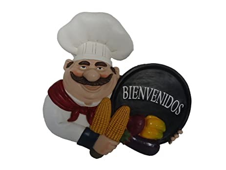 Amazon.com: Fat Chef Spanish Bienvenidos Kitchen Wall Art Hanging ...