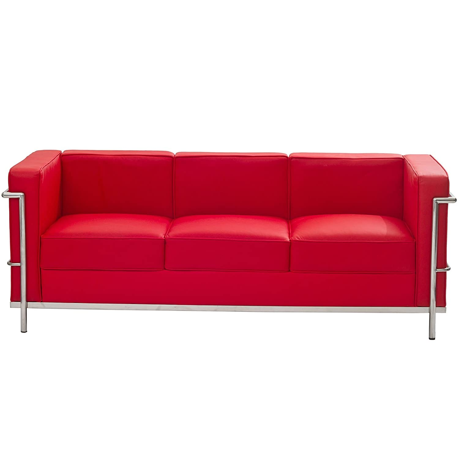 leather office couch. amazoncom modway charles leather petite sofa in red kitchen u0026 dining office couch