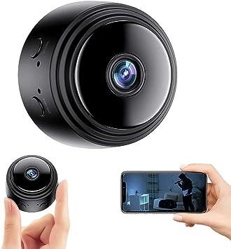 Opinión sobre Mini Camara Oculta,Micro Camaras 1080P HD WiFi Vigilancia Grabadora de Video Portátil con IR Visión Nocturna Detector de Movimiento,Camara Seguridad Pequeña Inalambrica Interior/Exterior