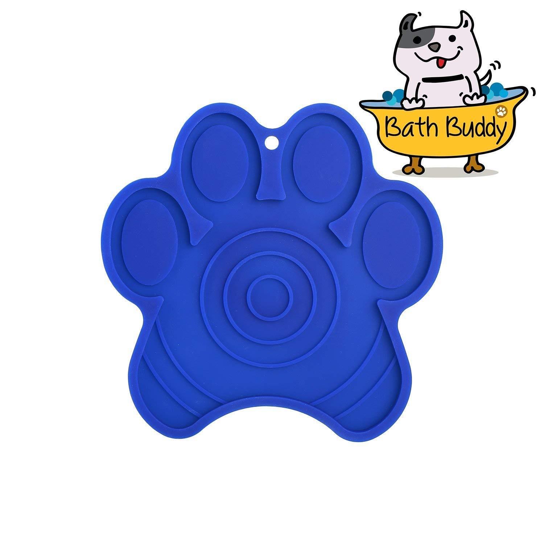 Cinsey Bath Buddy Dogs, Lick Dog Pad Washing Distraction Bath Device Makes Bath Time Easy, Enjoyable Bathing, Grooming Dog Training (Bule)