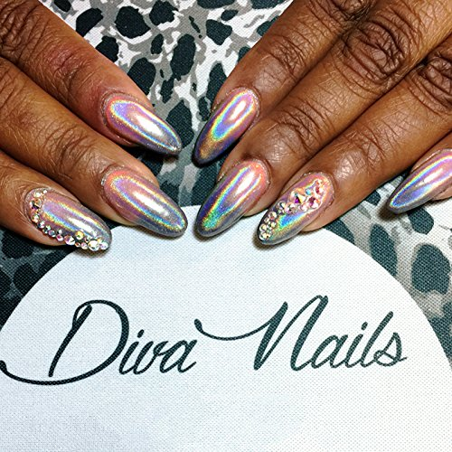 PrettyDiva 1g Holographic Powder Rainbow Unicorn Chrome Nails Powder Manicure Pigment Top Grade by Pretty Diva (Image #4)
