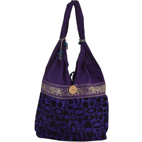 9941df60c84b SHOP FRENZY Women s Canvas Printed Traditional Jaipuri Rajasthani Jhola  Tote Boho Shoulder Messenger Bag (Multicolour)  Amazon.in  Shoes   Handbags