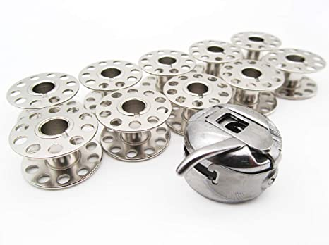 CKPSMS - 1 funda de bobina # 200909107 43725 y bobinas para máquinas de coser Kenmore 158 y 385: Amazon.es: Juguetes y juegos