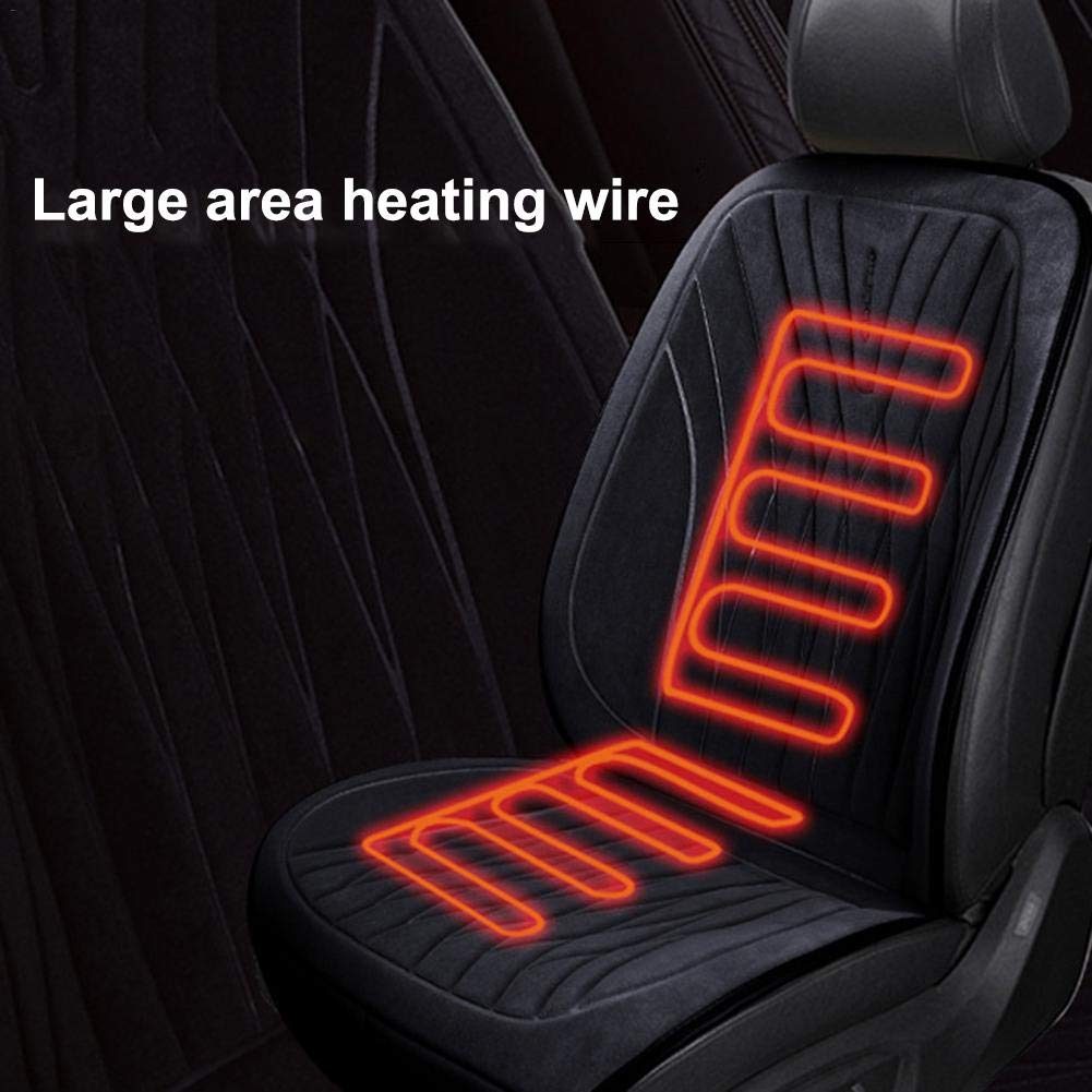 seelive 12V Car Heating Pad Heated Car Seat Cushion 3-Speed Temperature Adjustment Safe Circuit Protection Perfect for Cold Weather /& Winter Driving /& All-Season Use Incredible