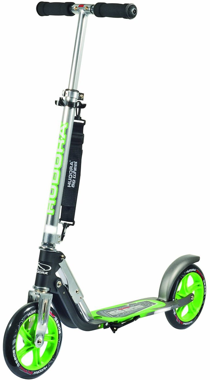 Hudora Big Wheel GS Patinete color verde neón
