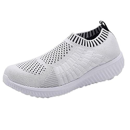 Zapatos Deportivos de Mujer, SUNNSEAN, Zapatillas Respirable Mocasines Deportes Casual Antideslizantes Fitness Zapatos de