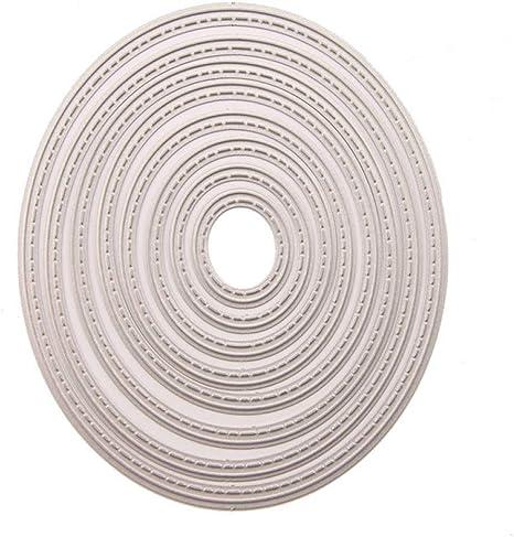 Cardmaking 3 cm crafting 8 PC set 12 cm CIRCLES Metal Cutting Die