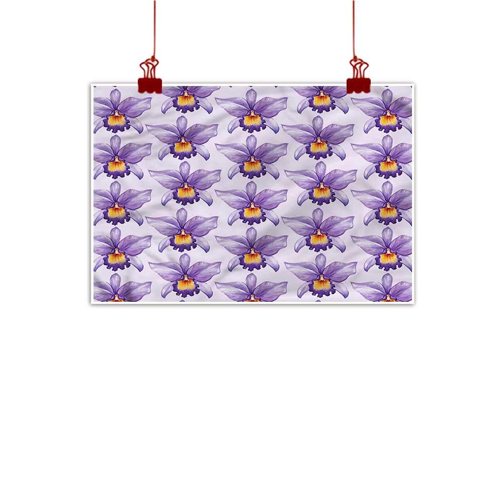 color03 36 x32  (90cm x 80cm) Mangooly Canvas Wall Art purple,Stripes with Polka Dots for Bathroom Bedroom Pictures