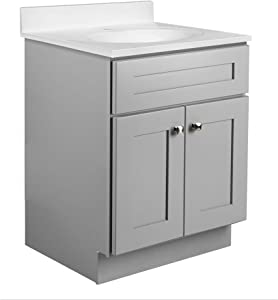 Design House 587071 Brookings Unassembled Modern Shaker Vanity Cabinet Only, 9.25 in, Gray