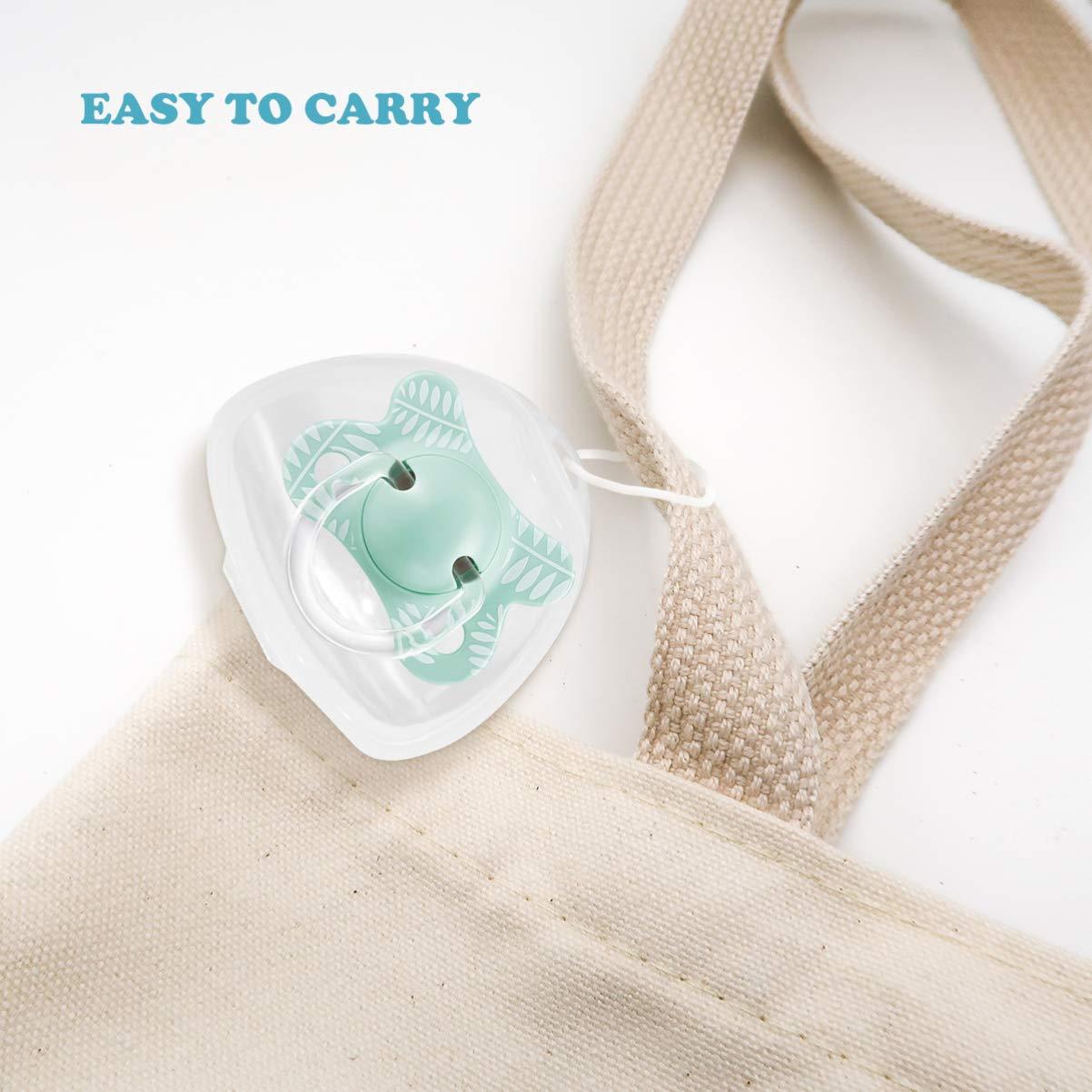 SUPVOX 4PCS Schnullerbox Tragbar Transparent Staubdicht Box f/ür Baby Neugeborene S/äugling
