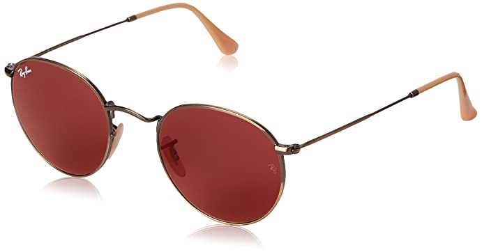 112d9f023a3fe ... clearance ray ban round metal demiglos brusched bronze frame red mirror  lenses 50mm non d1710 d12a9