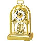Widdop & Bingham - Horloge de Cheminée - Syle Classique - 27 x 17 x 11cm - Couleur Or - Boite Cadeau