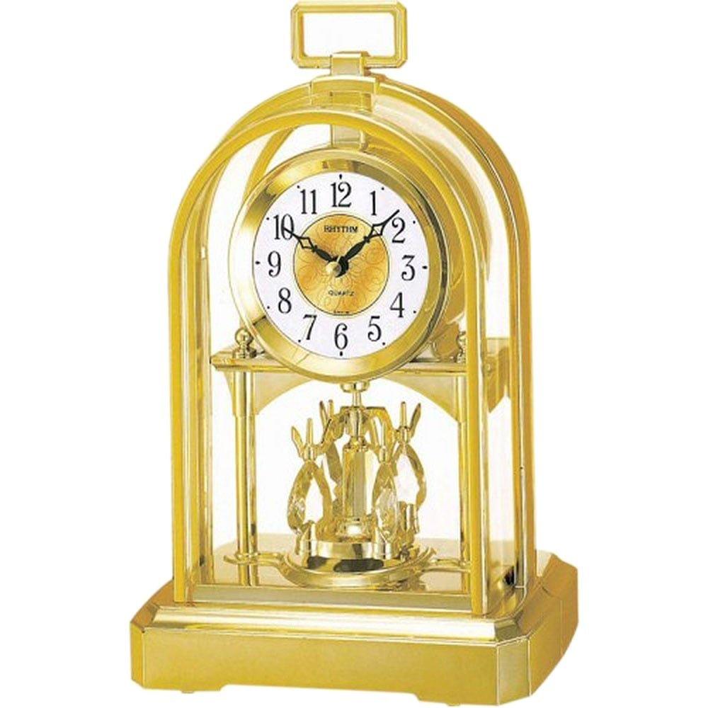 Classic High Quality RHYTHM Gilt Arch Anniversary Mantel Clock Widdop Bingham 41627