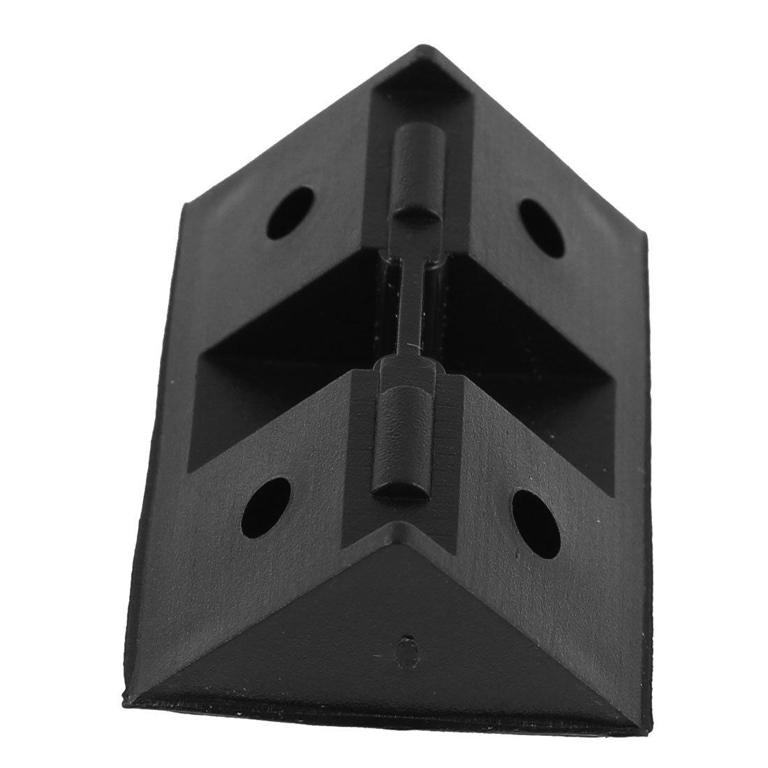 Sourcingmap /® Estante Armario pl/ástico /ángulo recto Corner Brace Soporte Negro 20Pcs