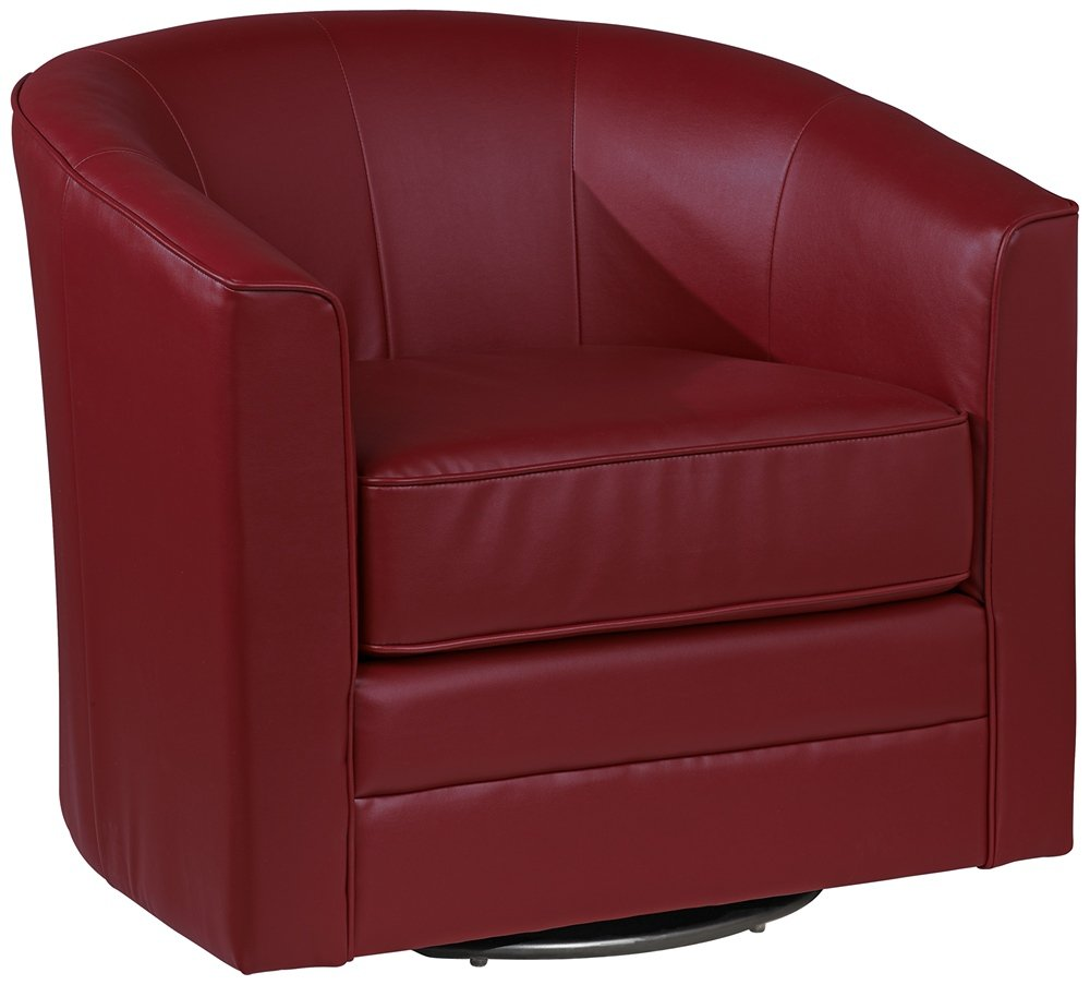 amazoncom keller scarlet red bonded leather swivel club chair kitchen u0026 dining