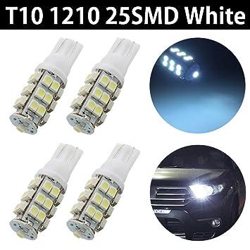 taben 10pcs Super brillante 160 lúmenes T10 Bombilla LED Blanco 25-SMD 1210 LED luz