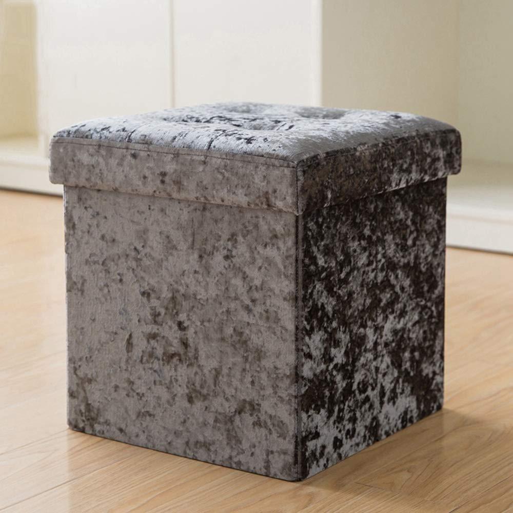 B ZhiGe Storage seat,Rectangular Storage Stool Storage can be Used for Adult Storage Box Multifunctional Folding Fabric Sofa Stool