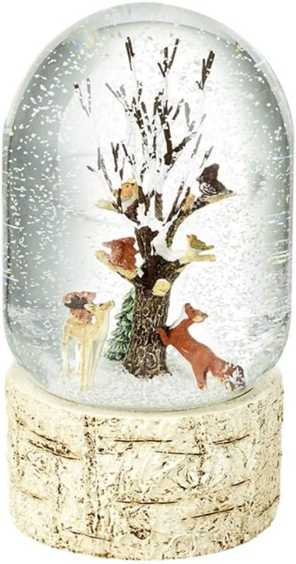 HSE Christmas Winter Snow Globe//Dome//Waterball Decoration Ornament BLACK DOG