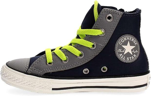 Converse bébé Chaussures Hi Side Zip Obsidian All Star en