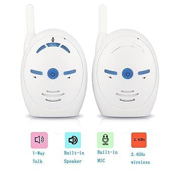 Vigilabebés, Digital Audio Baby Monitor 2.4Ghz Sano y Salvo Totalmente Recargable EU BM016: Amazon.es: Electrónica