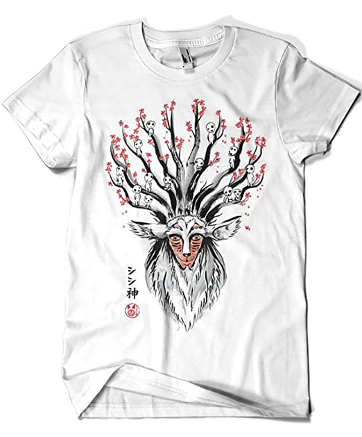 Camisetas La Colmena 2014-Camiseta Studio Ghibli - The Deer God Sumie (Dr.