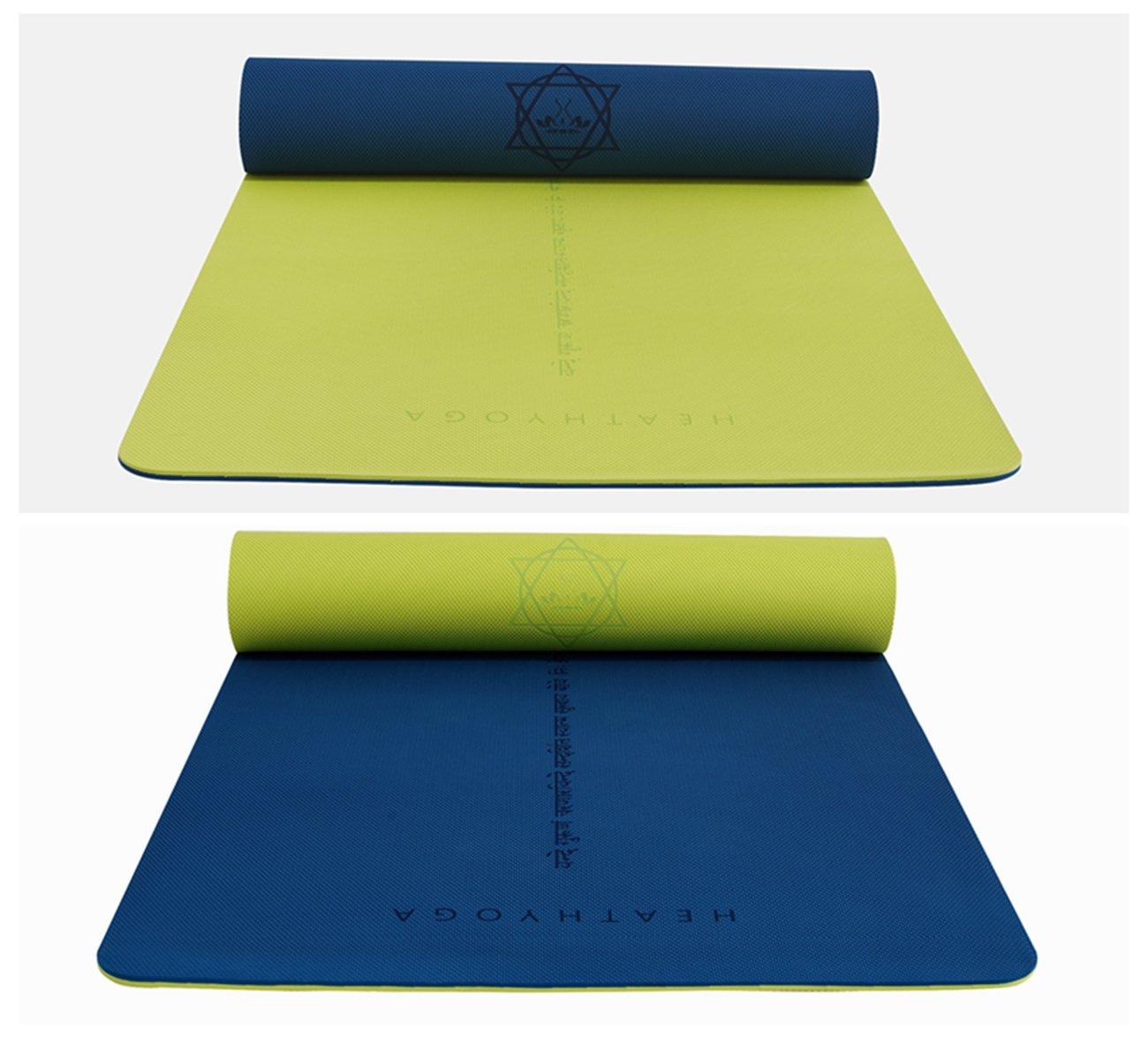 Heathyoga ® Estera de Yoga, de Espuma de Memoria de Alta Densidad, de Peso Ligero, Antideslizante, protección del Medio Ambiente, diseño único de ...