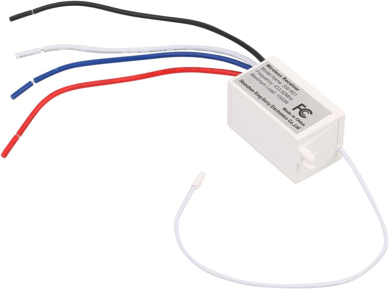 M90 F/ácil De Instalar Mengshen Receptor De Interruptor De Luces Inal/ámbrico