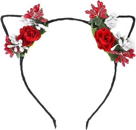 Rose Mariage Fleur Serre-tête Couronne Plage Bandeau Floral Garland Bandeau