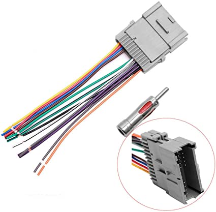 Amazon.com: Stereo Radio Wiring Harness Antenna Adapter Replacement for  Most GM Chevy GMC Pontiac Oldsmobile: Car Electronics | Adapter For 2005 Chevy Silverado Radio Wiring Harness |  | Amazon