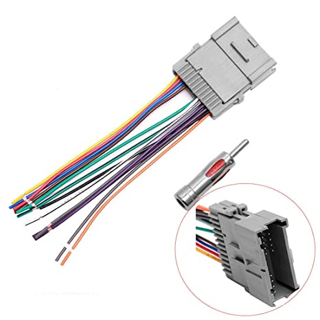 stereo radio wiring harness antenna adapter replacement for chevrolet gmc 2005 GMC Trailer Wiring Diagram
