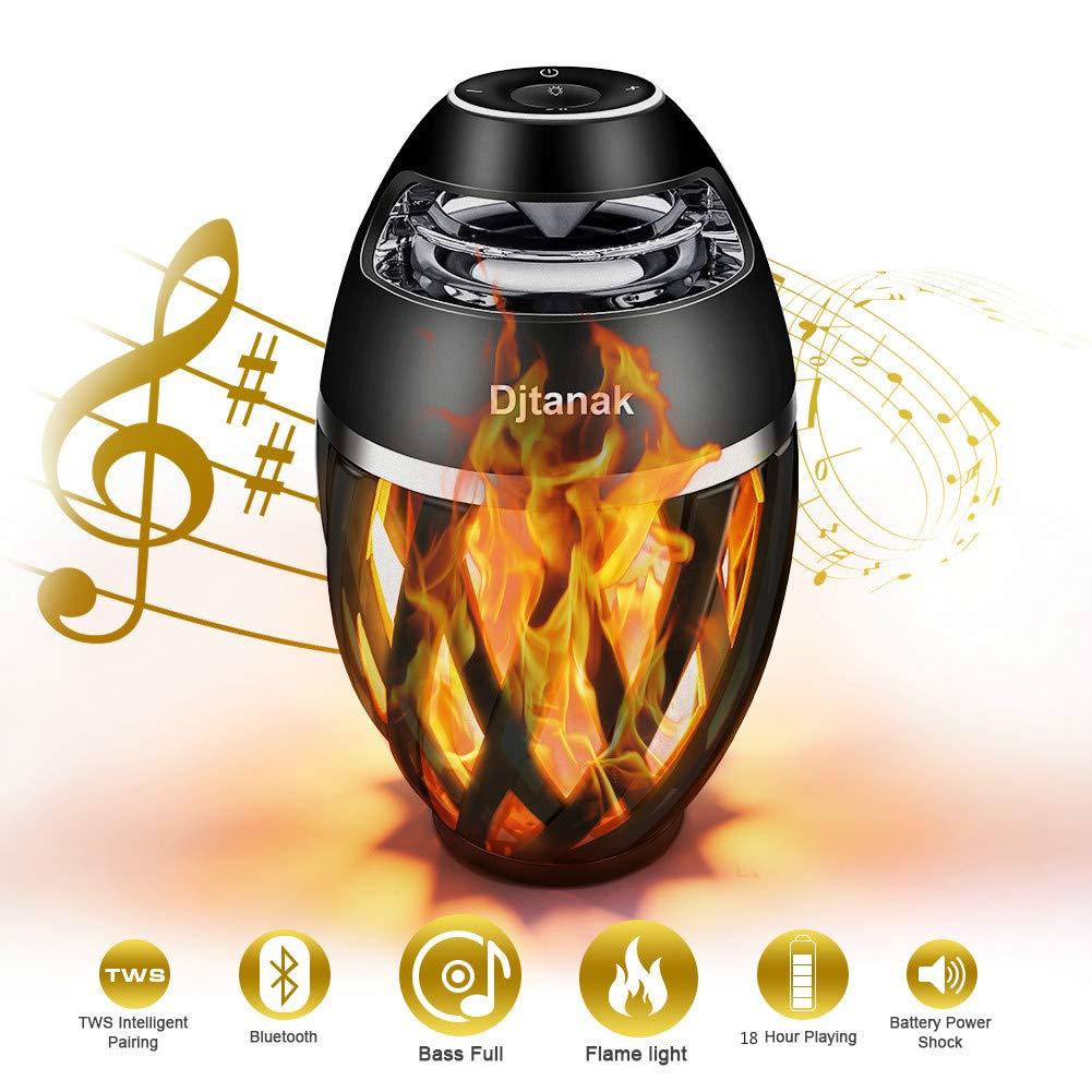 Djtanak Led Bluetooth Speaker Flame Ambience Lantern