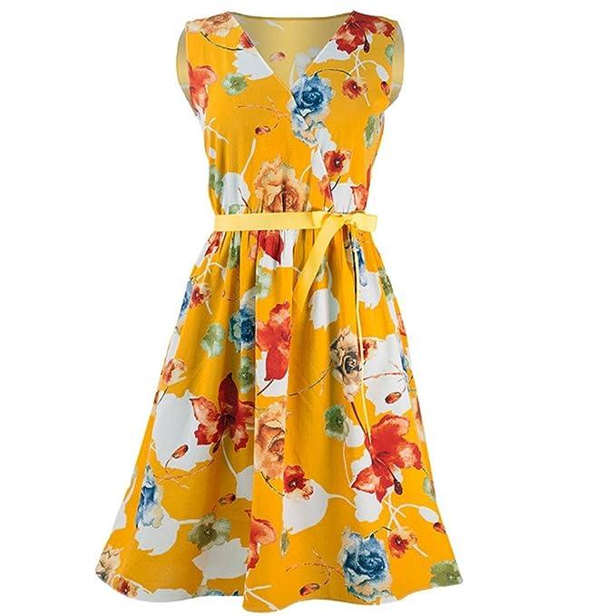 FAMILIZO -Vestidos Midi Mujer Flores Vestidos Rectos Mujer Verano Vestidos Sin Tirantes Vestidos Rectos Mujer