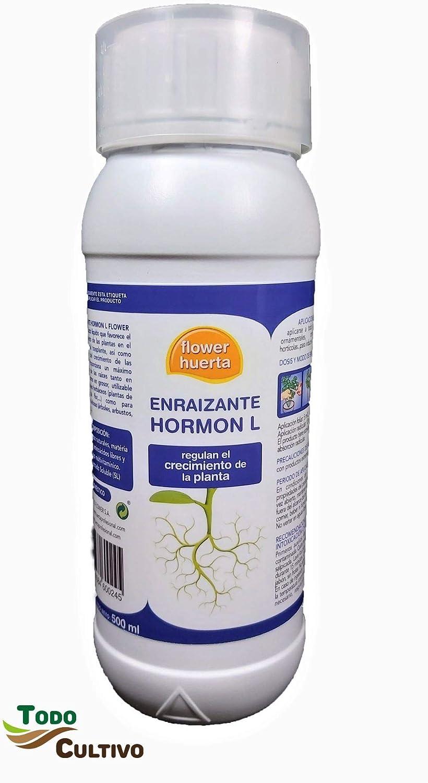 Flower Hormon L de enraizamiento AIB 0,4%. Envase de 500 CC. enraizante para esquejes y Nuevas plantaciones