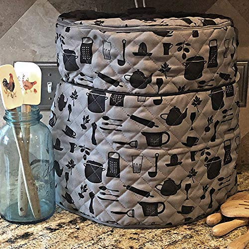 Pressure Cooker Cover - Custom Made Accessories - Fits 6.5 QT and 8 Qt. For Use With Ninja Foodi (Gray and Black - 6.5Qt. and 8 Qt) by Debbiedoo's (Image #2)