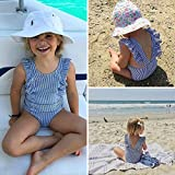 GSHOOTS Baby Girls' Striped Ruffle Swimsuit Bikini