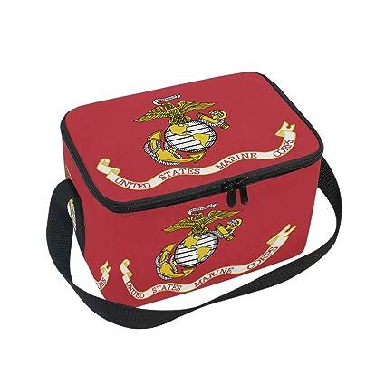 80fd78e88e79 Amazon.com: Flag Of The United States Marine Corps Insulated Lunch ...