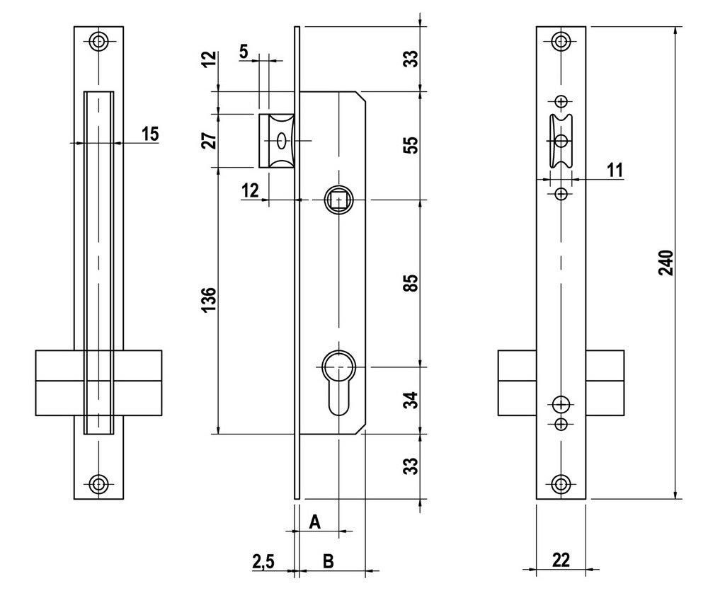 Lince 5923E35 Cerradura 35 mm