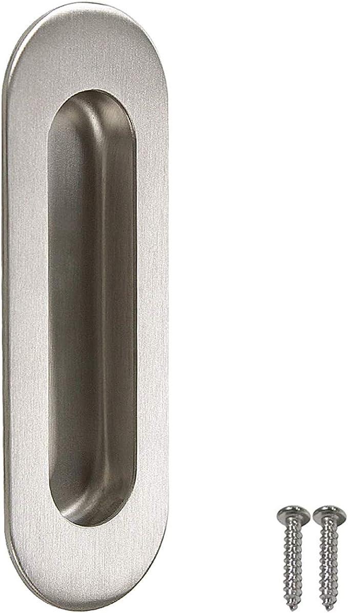 Probrico mh004ss Oval tirador para puerta corredera de acero inoxidable asas, oculta tornillos, Legth de 4,8 pulgadas, 1 Pack: Amazon.es: Amazon.es