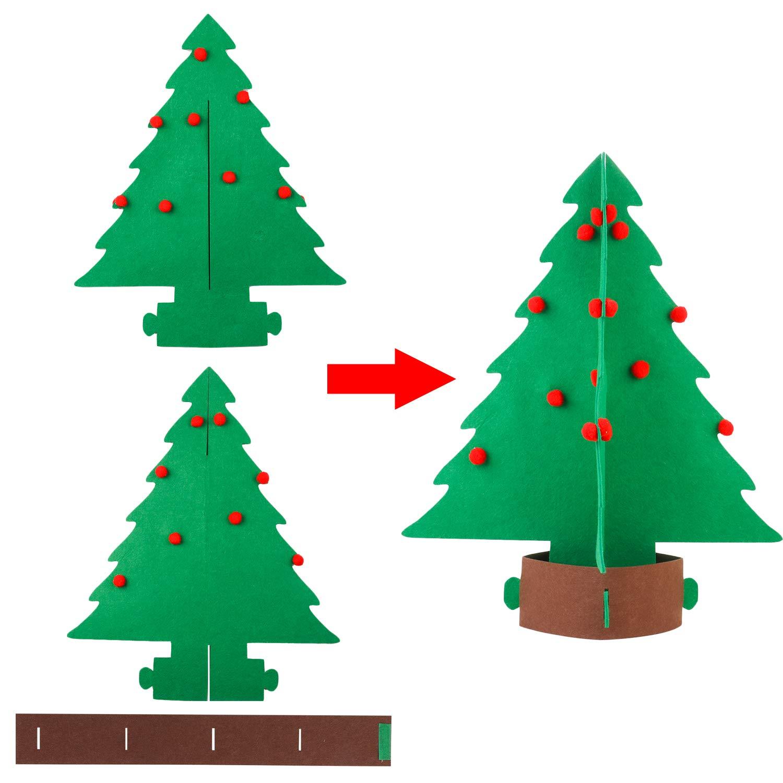 /Árbol de Navidad de Fieltro con Adornos Colgantes para ni/ños Legendog