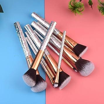 MSOOO - Juego de 10 brochas de maquillaje para sombra de ojos, brochas de maquillaje