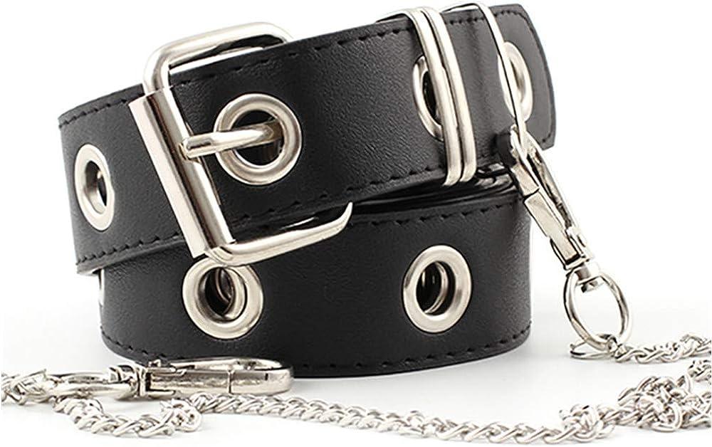ZOYLINK Cinturón De Jeans Para Mujer Moda Hollow Punk Estilo Pantalones Cinturón Con Cadena