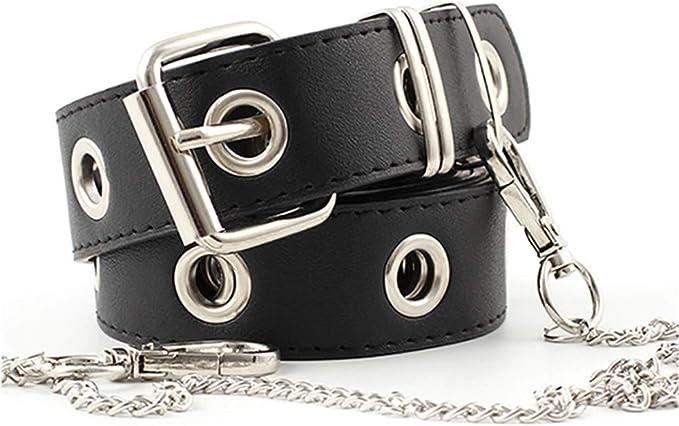 Cinturón Rockero Mujer Con Cadena