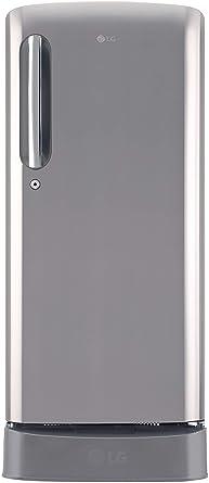 LG 190 L 4 Star Inverter Direct Cool Single Door Refrigerator (GL-D201APZY, Shiny Steel)