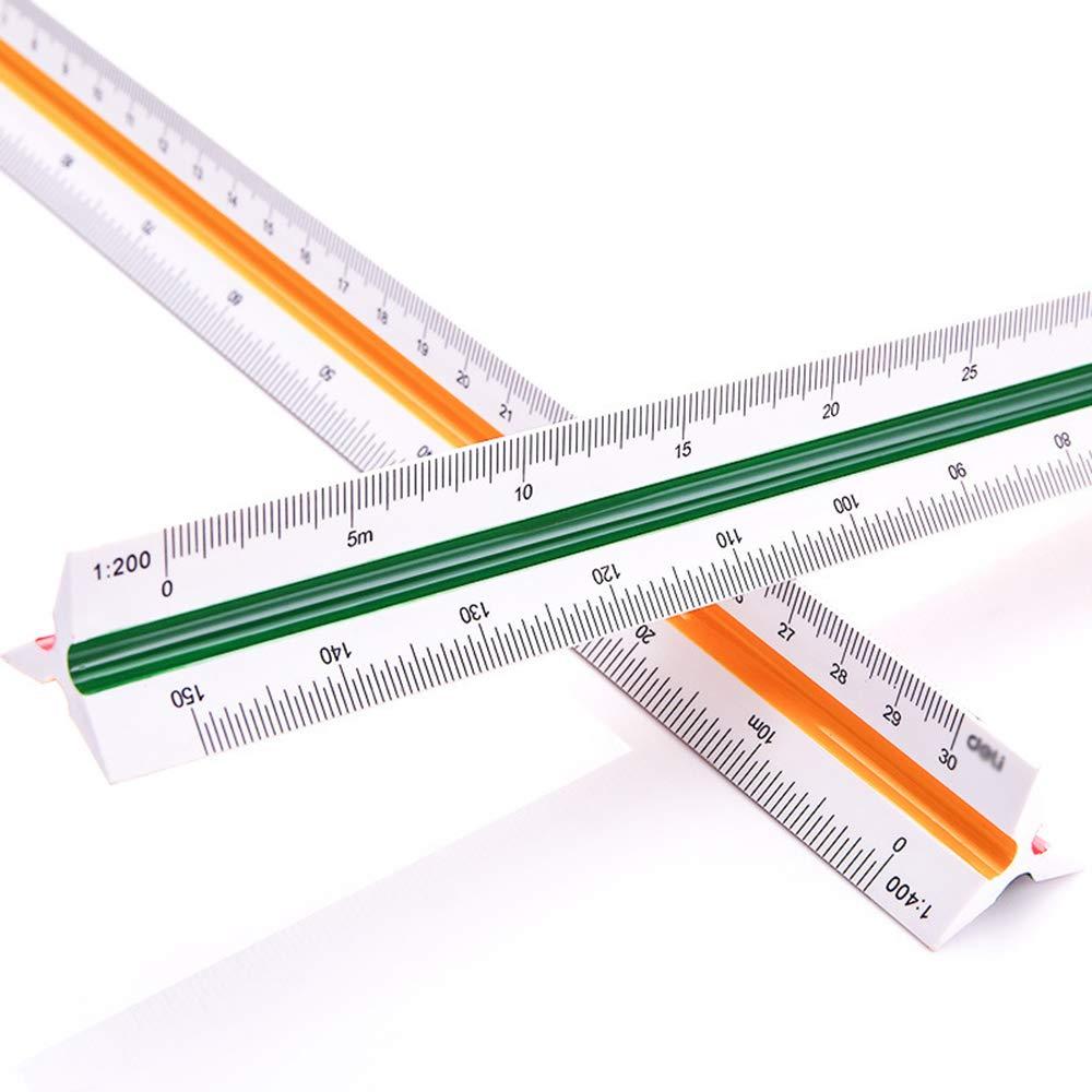 Vektenxi 1 ST/ÜCKE Hohe Pr/äzision Dreieckige Skala Lineal Multifunktions Lange Lineal Zeichnung Diagramm Messwerkzeug f/ür Architekten und Ingenieure