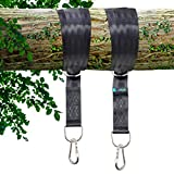 Green Rabbit Foundation Tree Swing Hanging Kit Hammock Straps w/ Extra Long Secure Set of 6ft Nylon Straps - Holds up to 2000lbs with Steel Alloy Carabiners and Storage Drawstring Bag