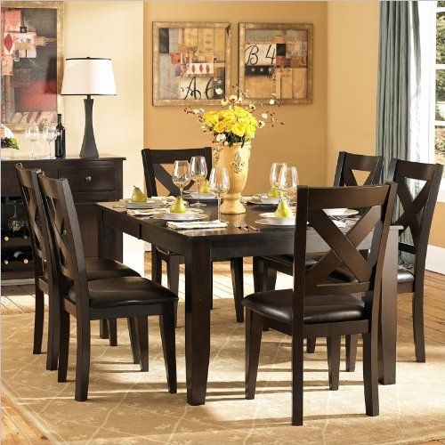 Homelegance Crown Point 7 Piece Merlot Dining Table Set