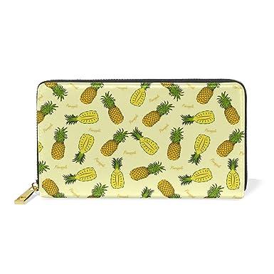 Amazon.com: Watercolor Pineapple - Carteras largas de piel ...