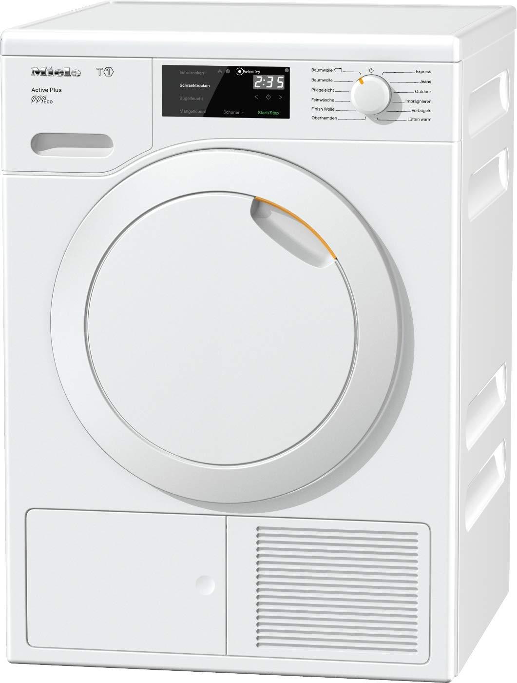 Miele TCE 520 WP Active Plus Wärmepumpentrockner/A+++ (171kWh/Jahr)/mit 8kg Schontrommel/mit Duftflakon für frisch duftende Wäsche/Wäschetrockner mit Startvorwahl und Restzeitanzeige [Energieklasse A+++] 11037640